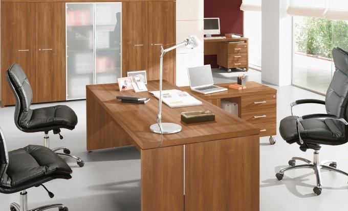 scrivania direzionale delta in legno