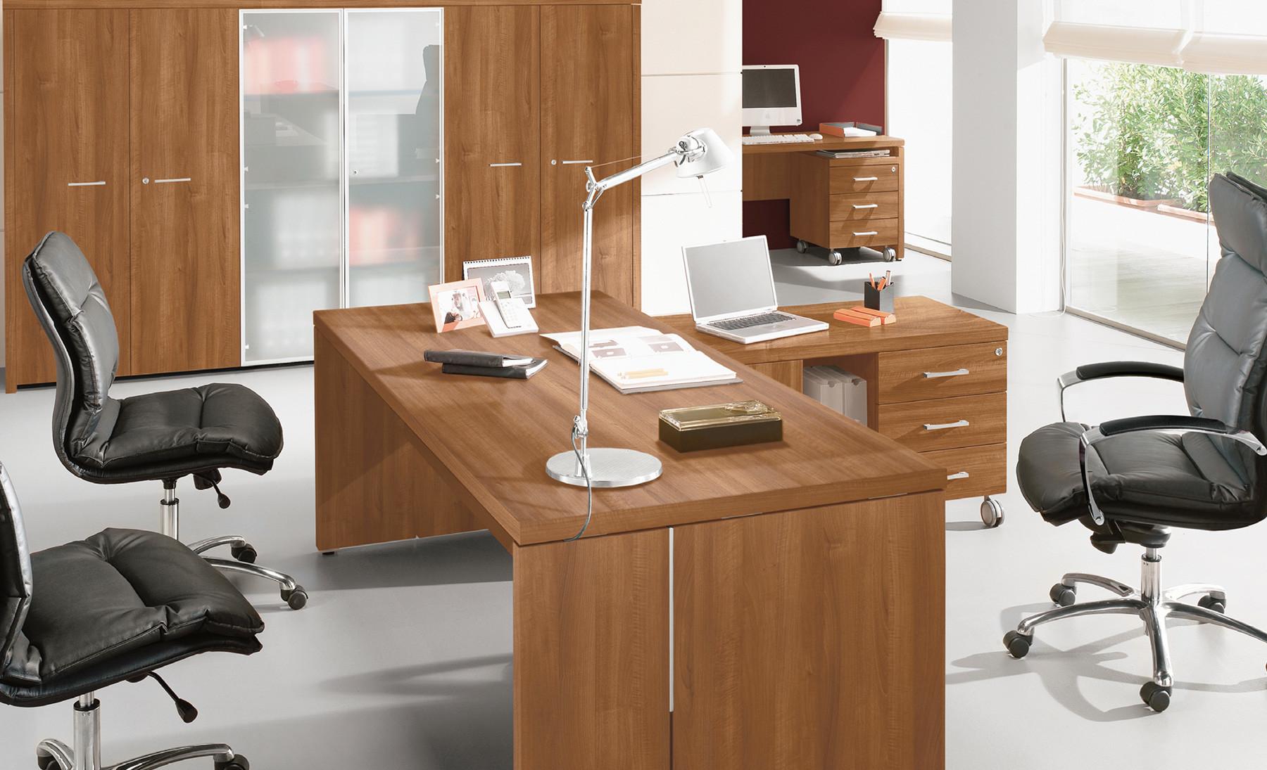 Scrivania Ad Angolo Con Libreria : Delta evo scrivania direzionale moderna contact ufficio roma