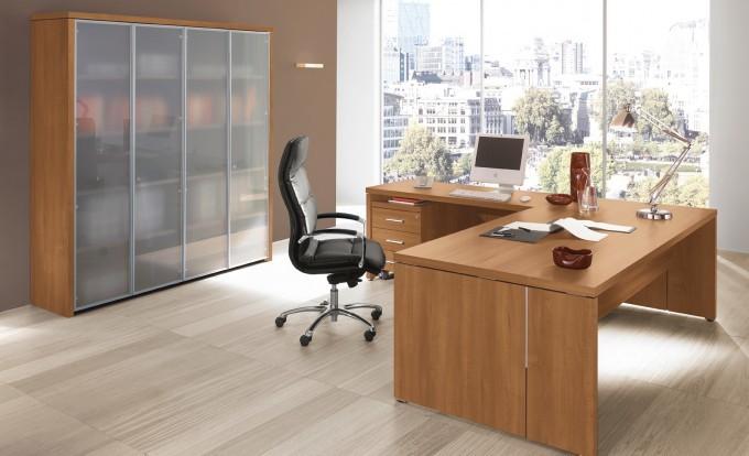 scrivania direzionale in legno