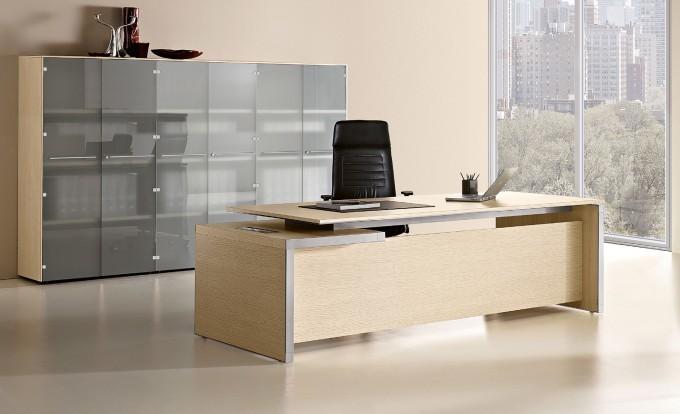 scrivania direzionale eos legno chiaro