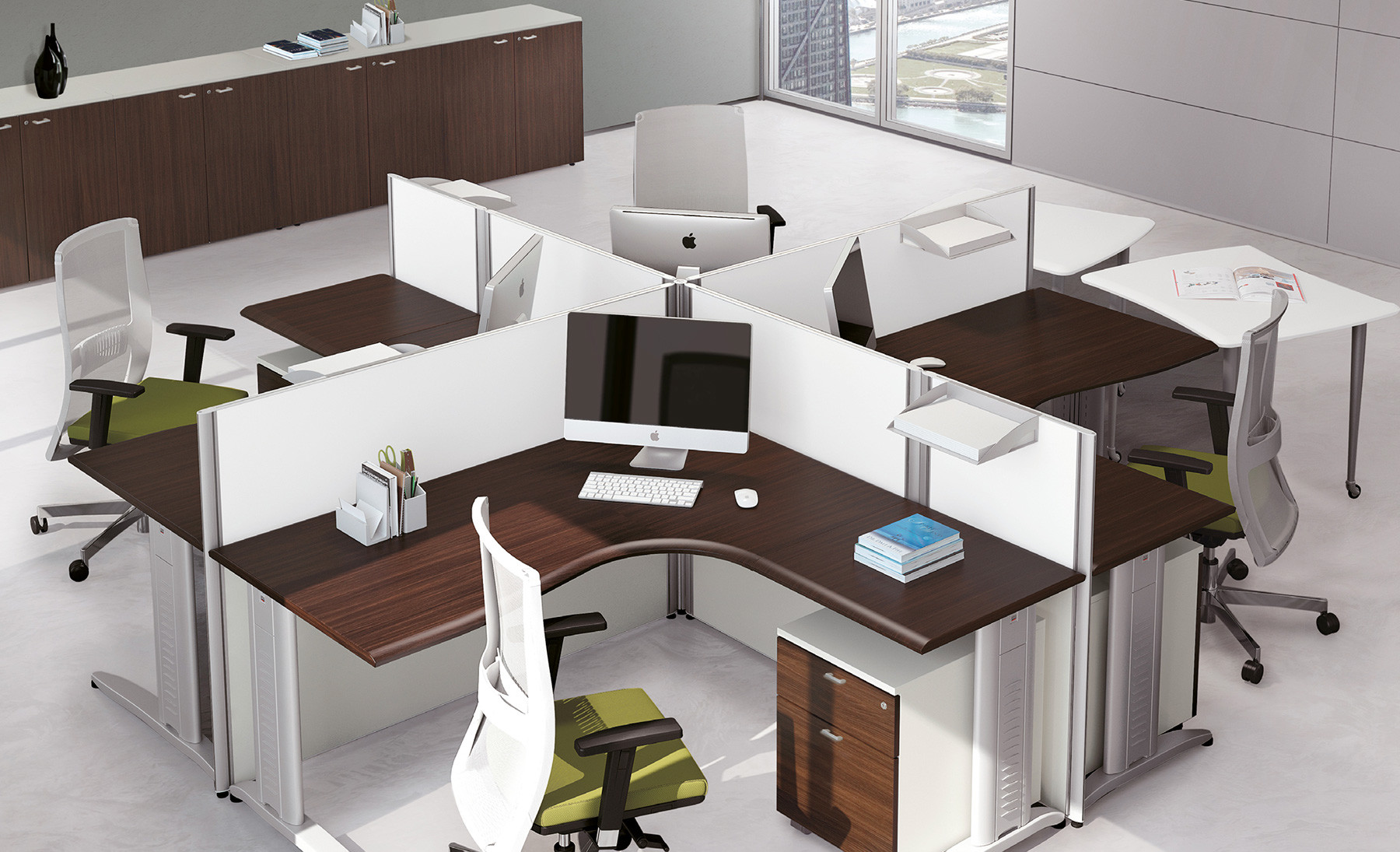 Scrivania Ufficio Doppia : Format scrivania operativa sagomata contact ufficio roma