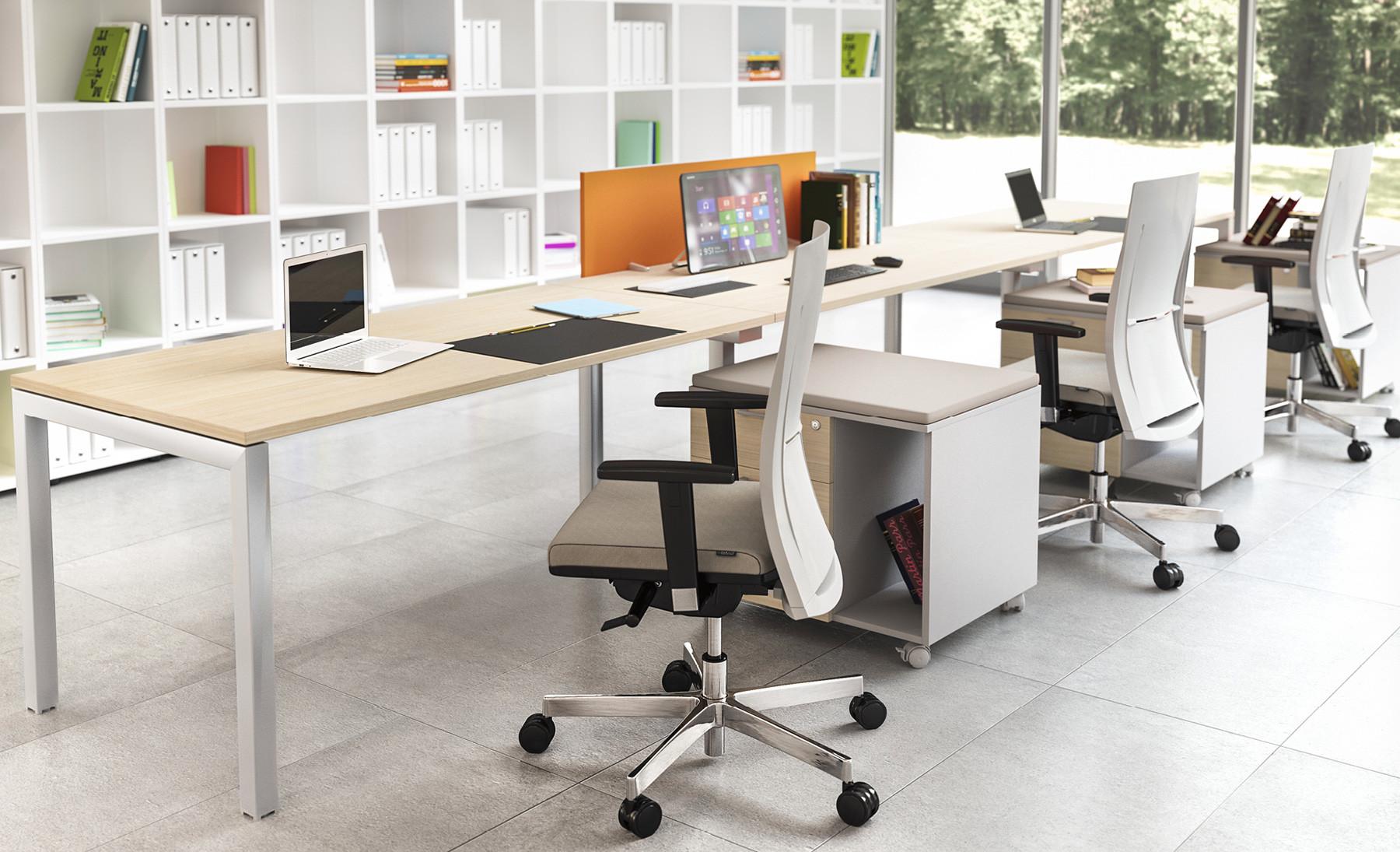 Oxi scrivania operativa modulare contact ufficio roma for Divisori per scrivanie ufficio
