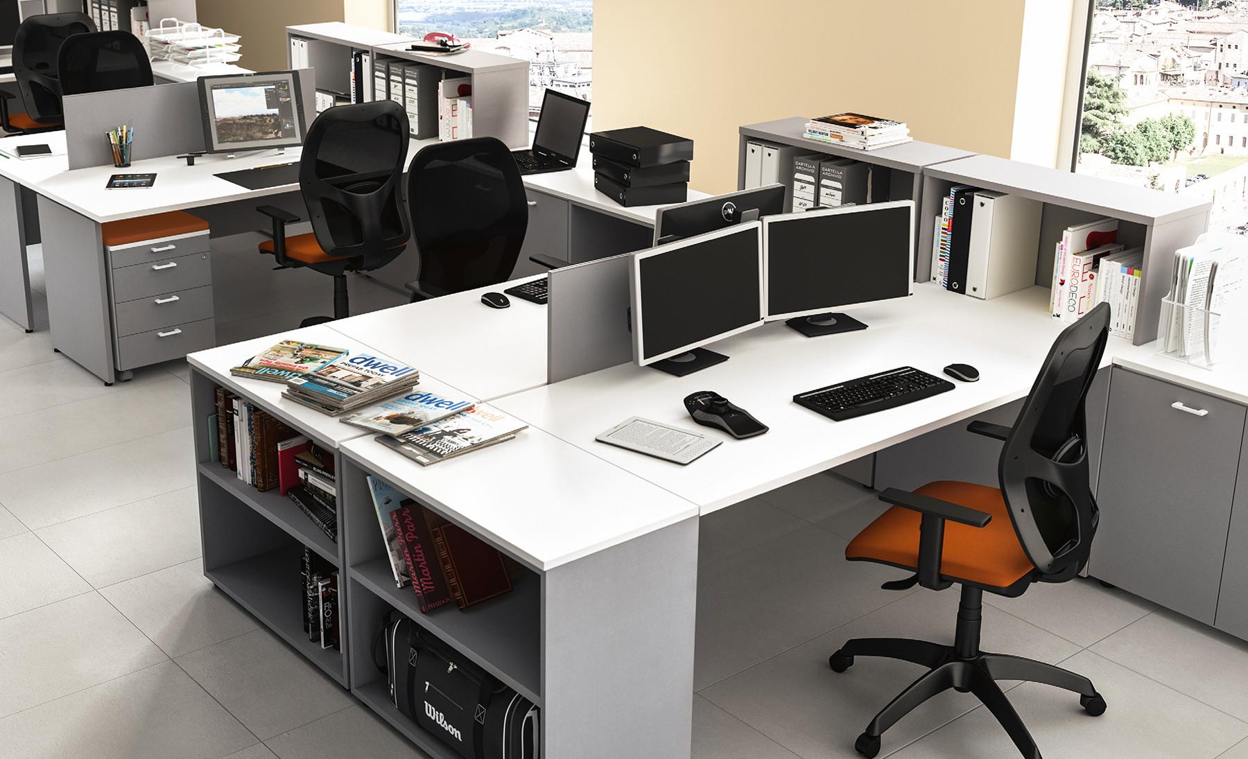 Scrivania Ufficio Doppia : Oxi scrivania operativa modulare contact ufficio roma