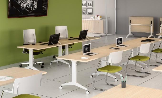 scrivania operativa oyo con rotelle