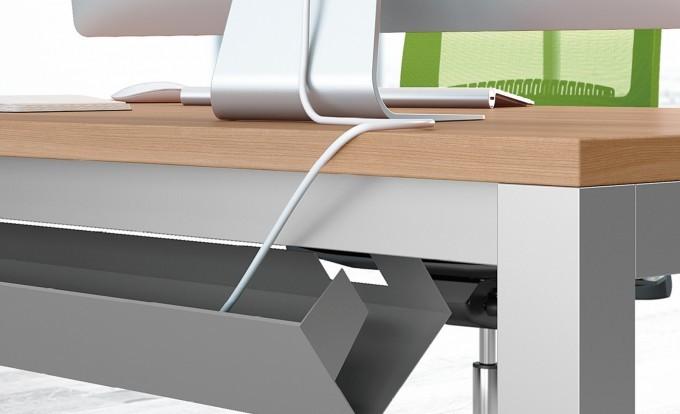 scrivania operativa up con nascondi cavi