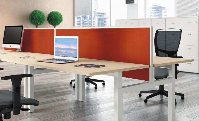 scrivania operativa up con pannello divisore
