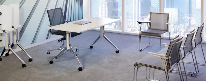 scrivania pieghevole e regolabile in altezza con rotelle notable folding icf