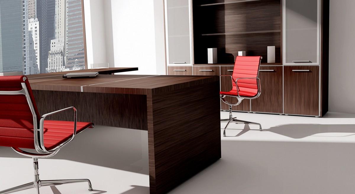 Cohiba scrivania direzionale legno scuro contact for Scrivanie direzionali prezzi