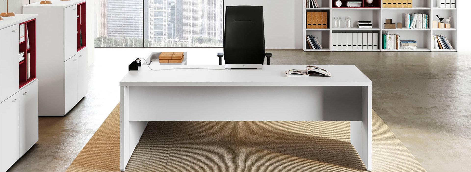 scrivania ufficio modello Delta Evo, bianca