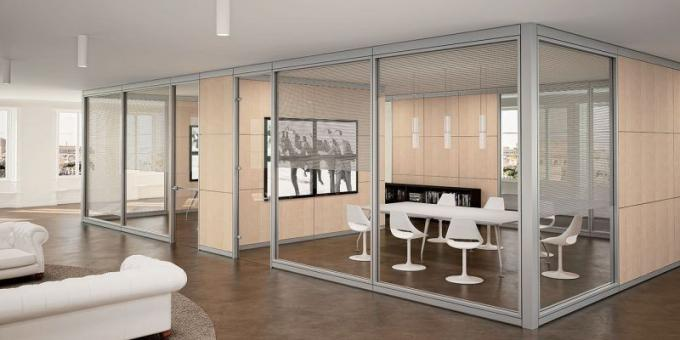pareti divisorie ufficio in vetro