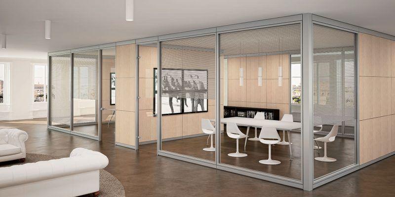 Pareti Divisorie Mobili Vetro : Vetro e legno materiali per pareti divisorie da ufficio