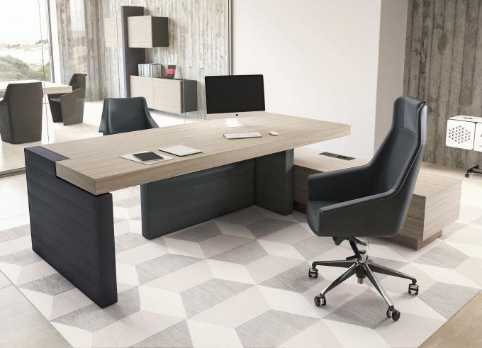 scrivania direzionale piano legno chiaro Jera