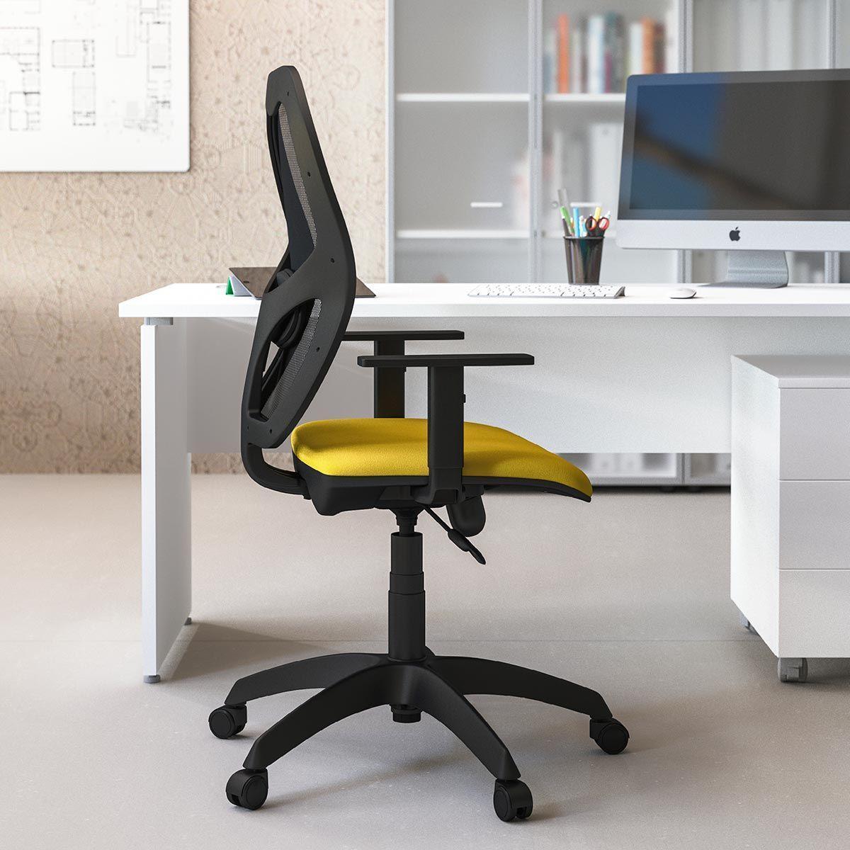 sedia operativa con seduta gialla