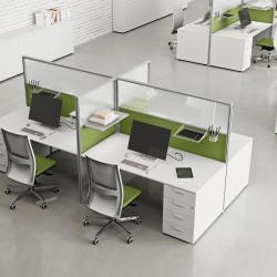 ufficio con piani scrivania bianchi