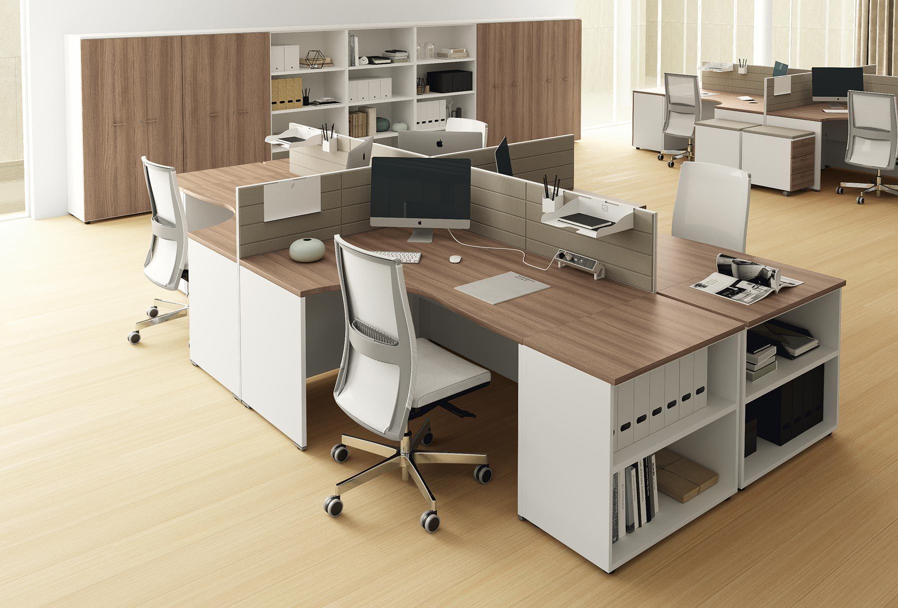 Scrivanie operative per uffici call center e grandi spazi for Produttori mobili per ufficio